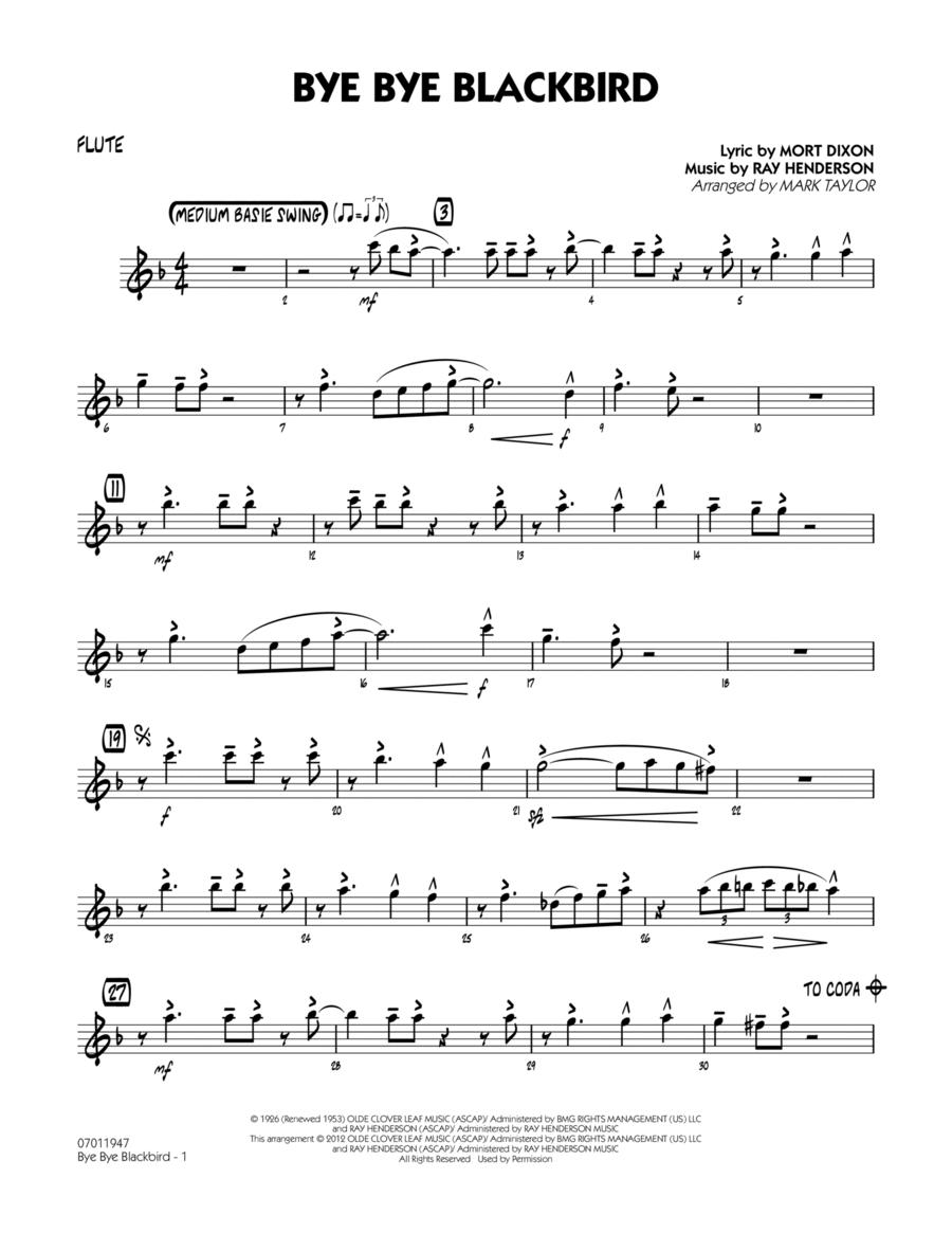 Bye Bye Blackbird - Flute