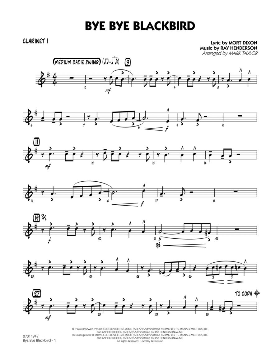 Bye Bye Blackbird - Bb Clarinet 1