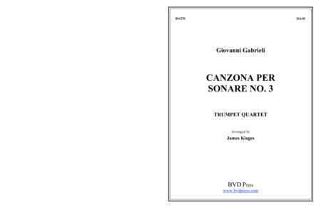 Canzona per Sonare No. 3