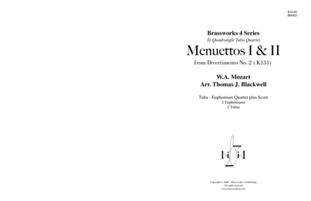 Menuettos I & II from Divertimento No. 2, K 131