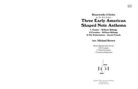 3 Early American Shaped Note Anthems