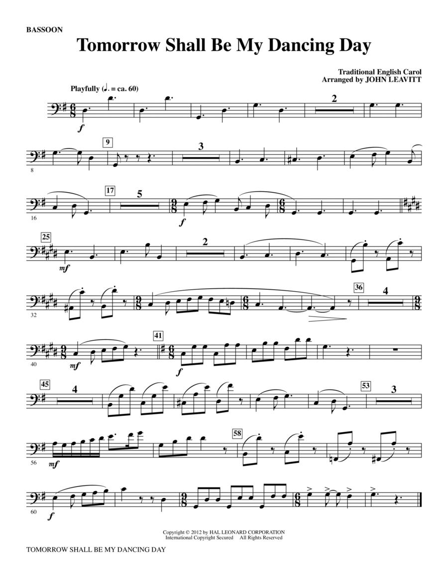 Tomorrow Shall Be My Dancing Day - Bassoon