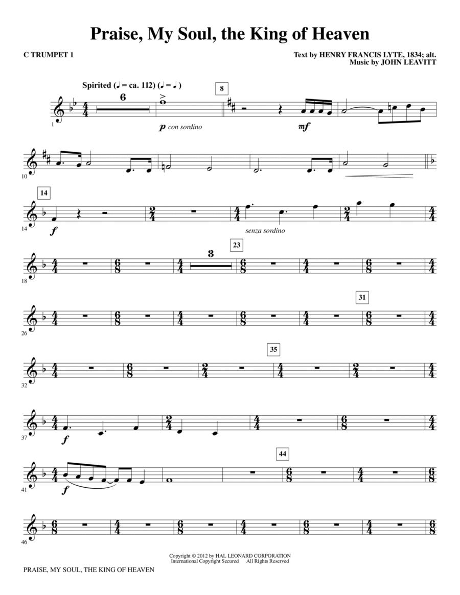 Praise, My Soul, The King Of Heaven - C Trumpet 1