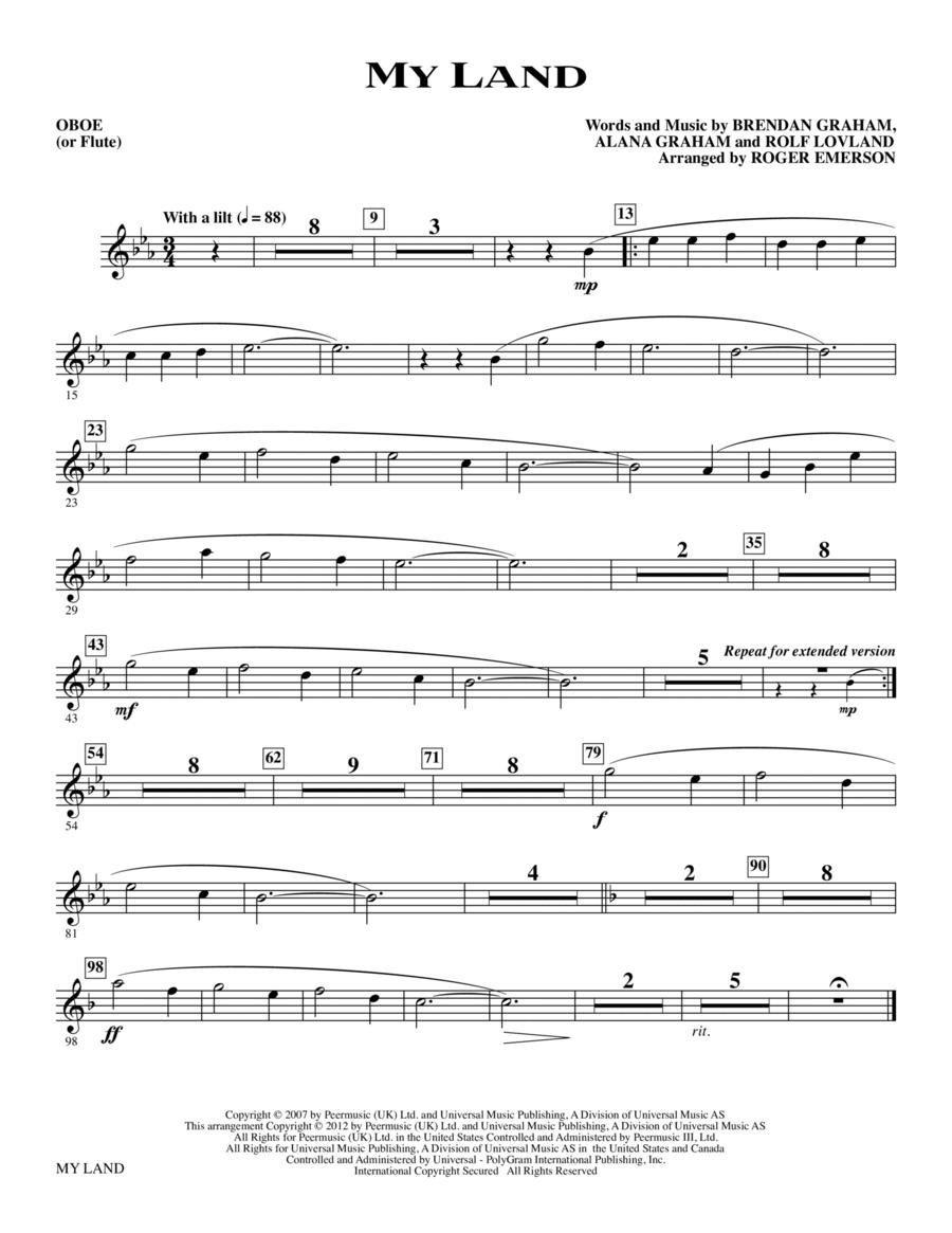 My Land - Oboe (Flute)