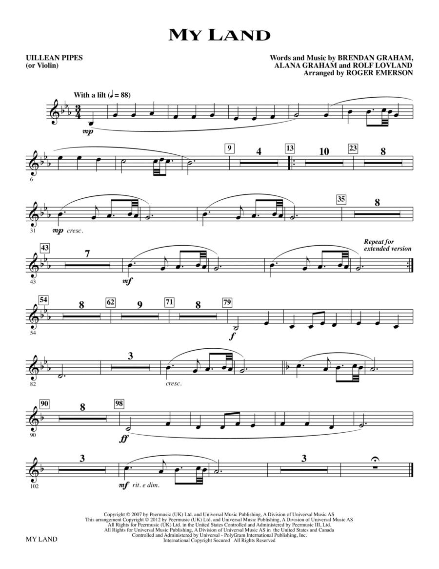 My Land - Uillean Pipes (Violin)