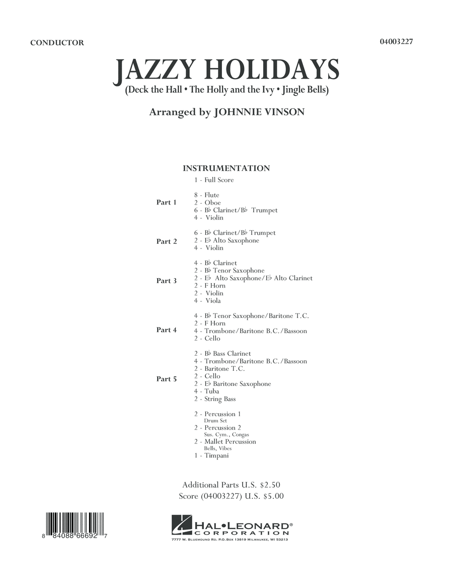 Jazzy Holidays - Full Score