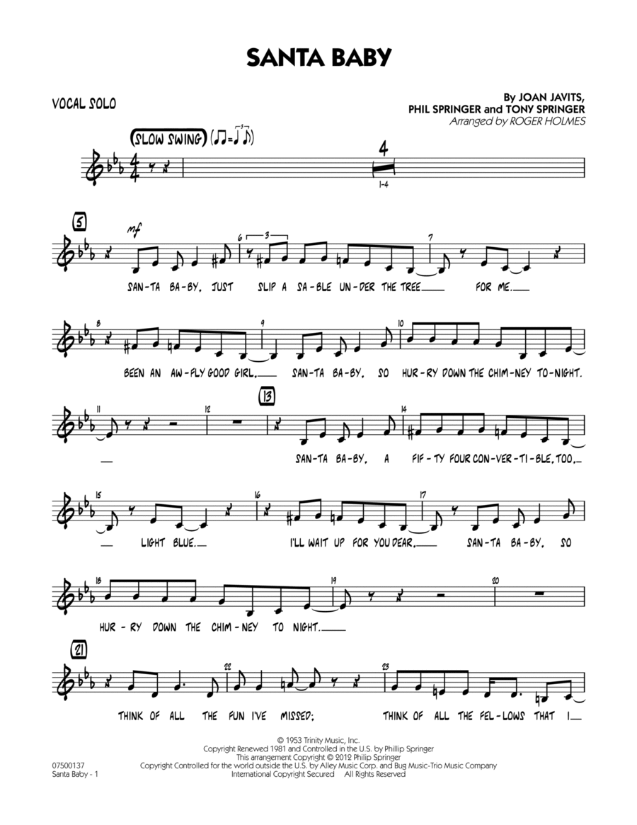 Santa Baby - Vocal Solo