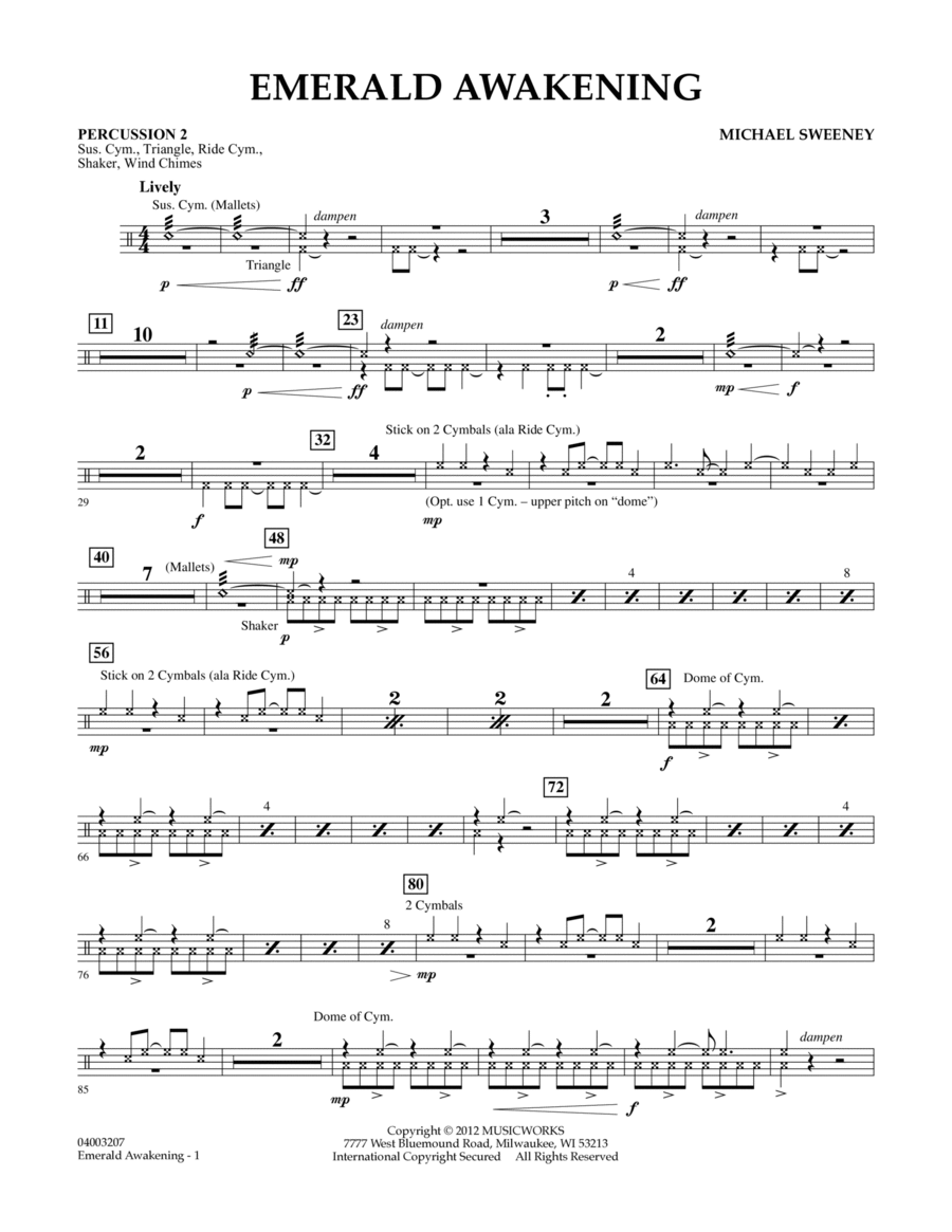 Emerald Awakening - Percussion 2