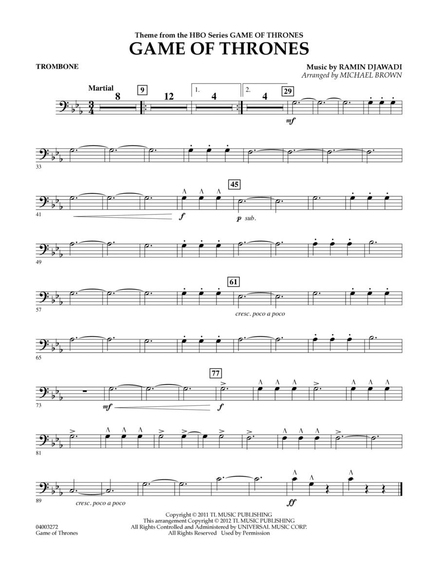 Game Of Thrones - Trombone