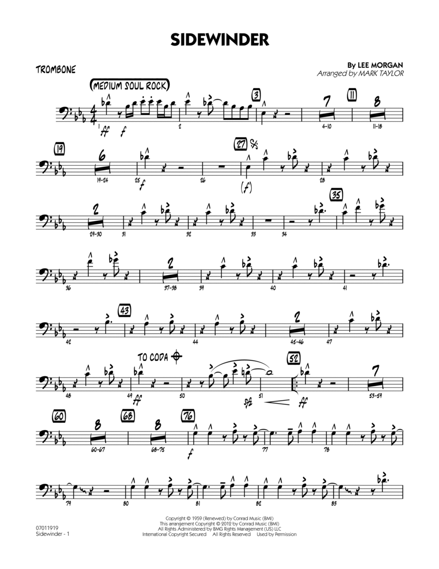 Sidewinder - Trombone