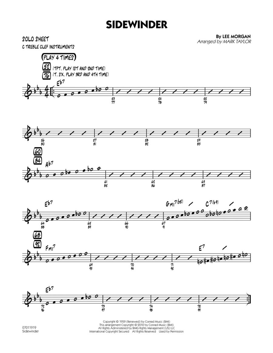 Sidewinder - C Solo Sheet