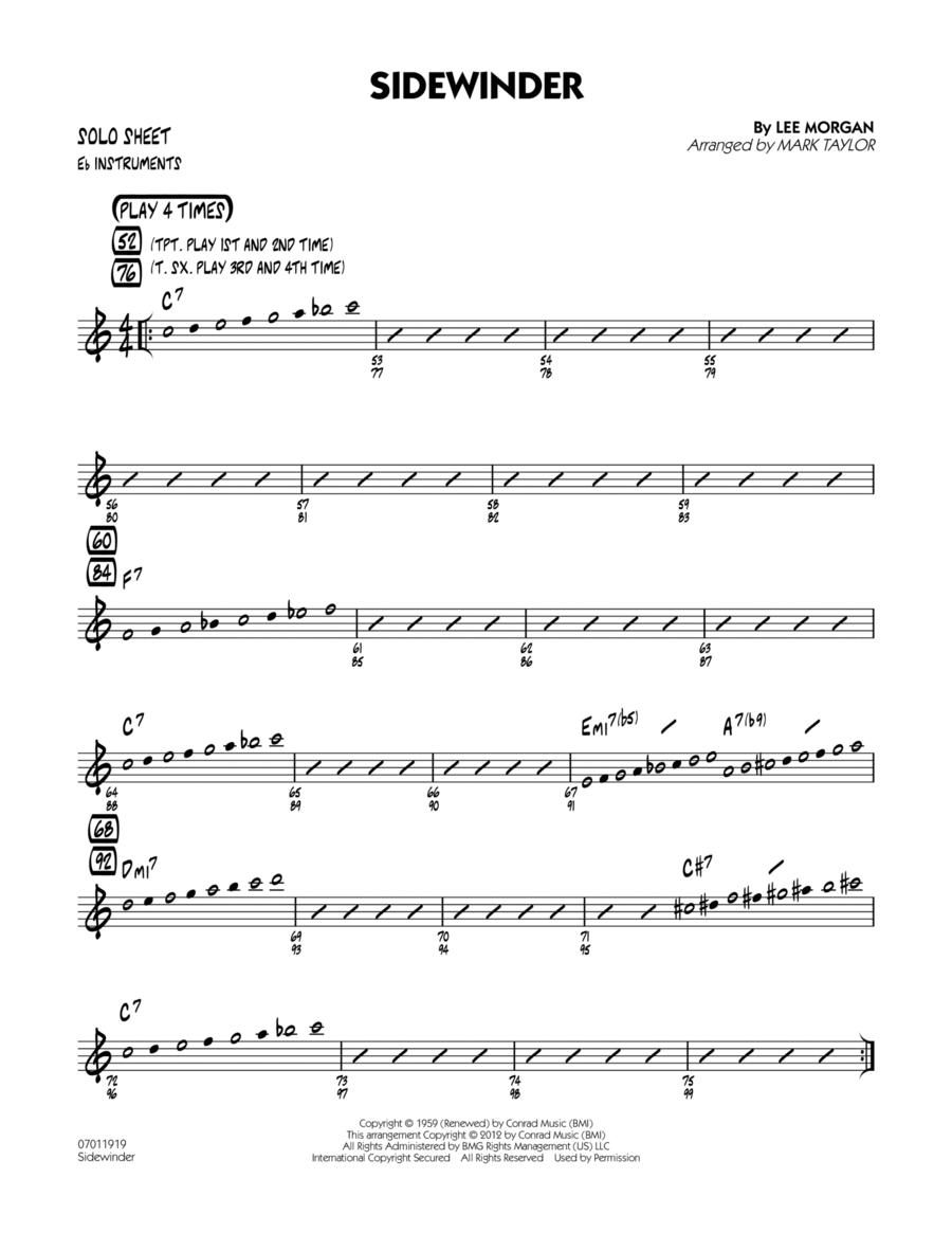 Sidewinder - Eb Solo Sheet
