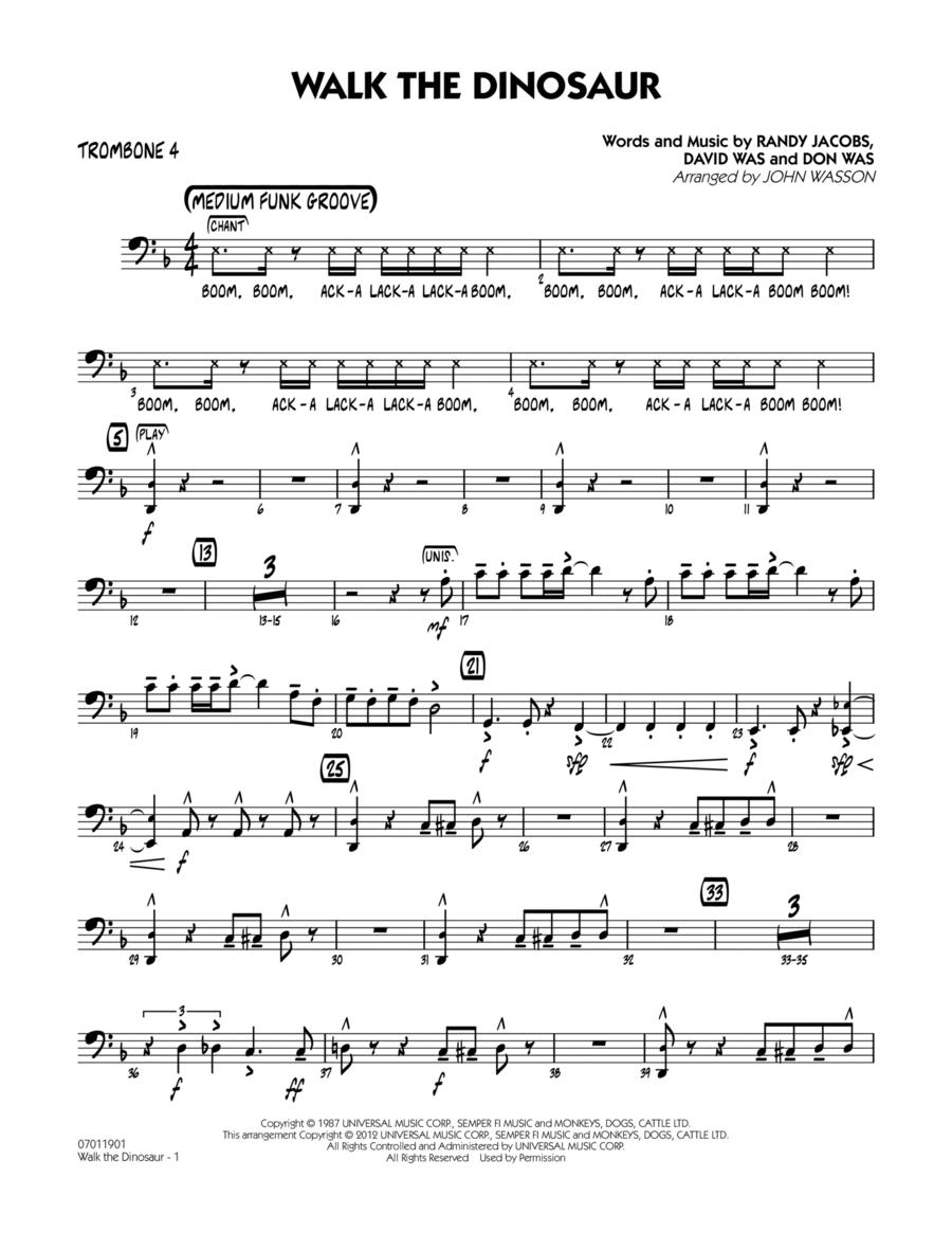 Walk The Dinosaur - Trombone 4