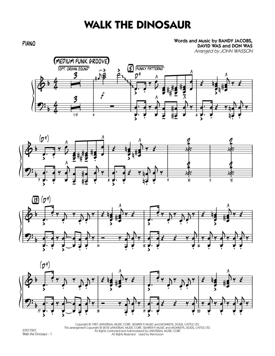 Walk The Dinosaur - Piano