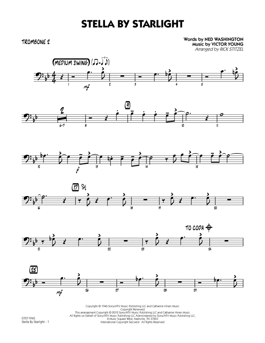 Stella By Starlight - Trombone 2