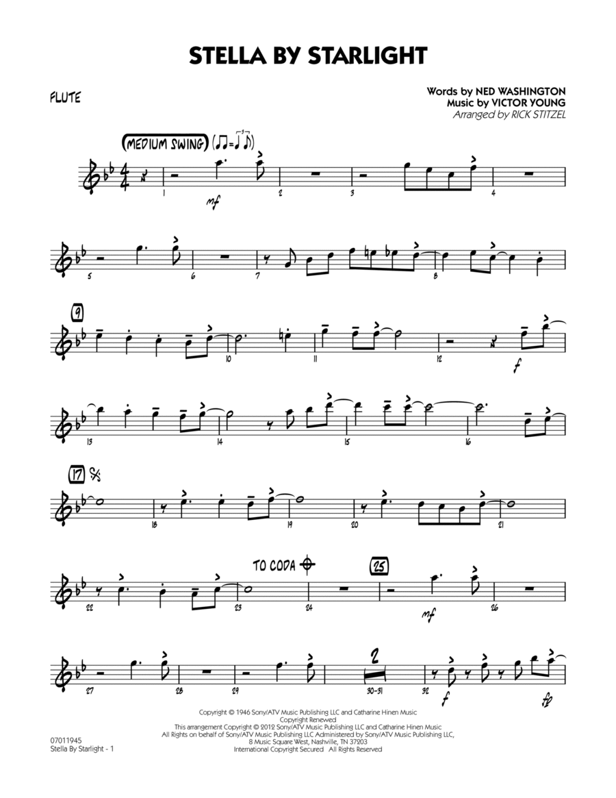 Stella By Starlight - Flute