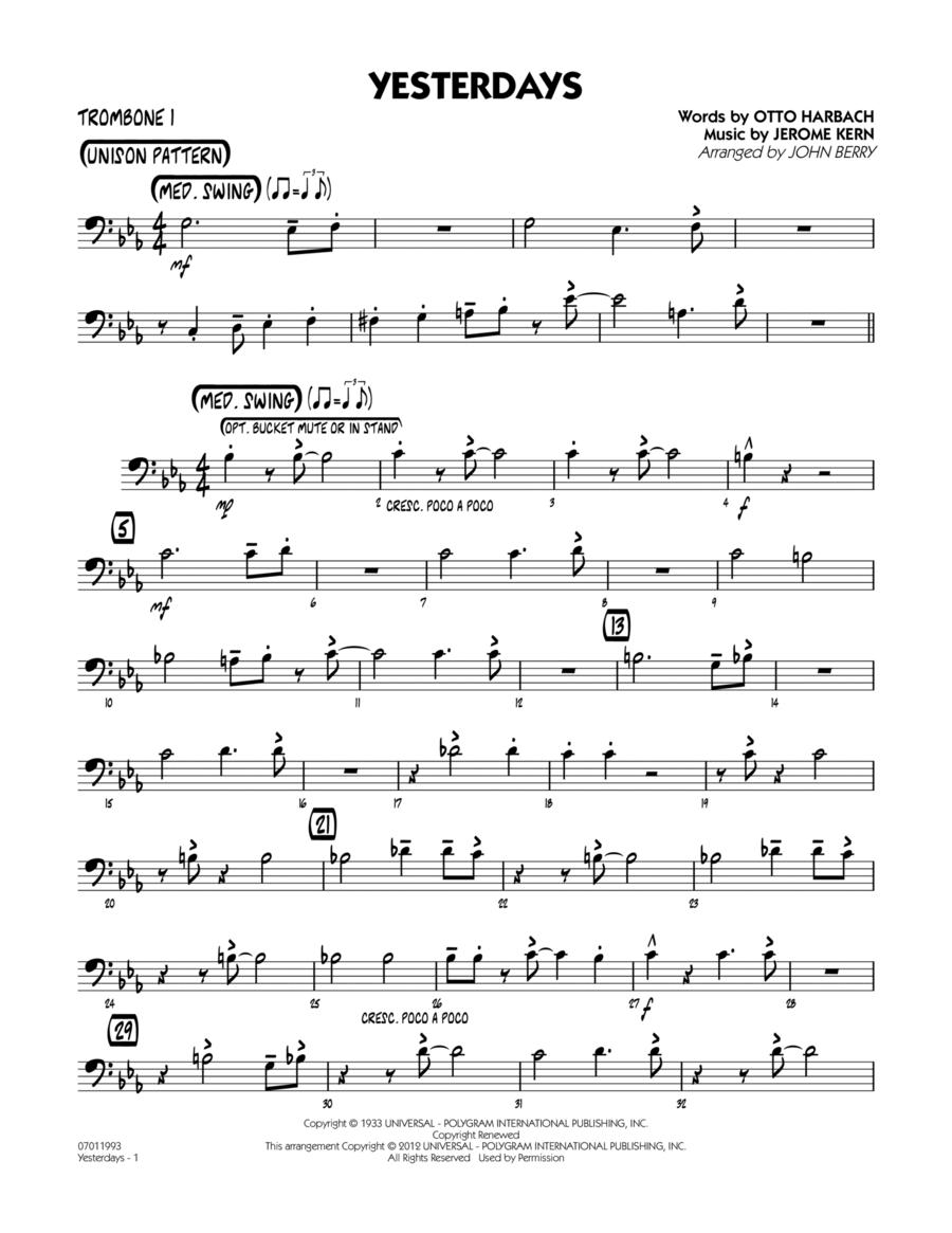 Yesterdays - Trombone 1