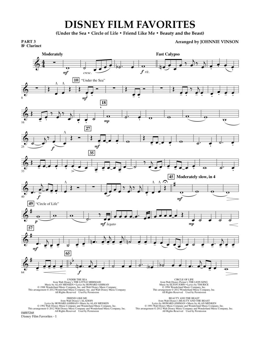 Disney Film Favorites - Pt.3 - Bb Clarinet