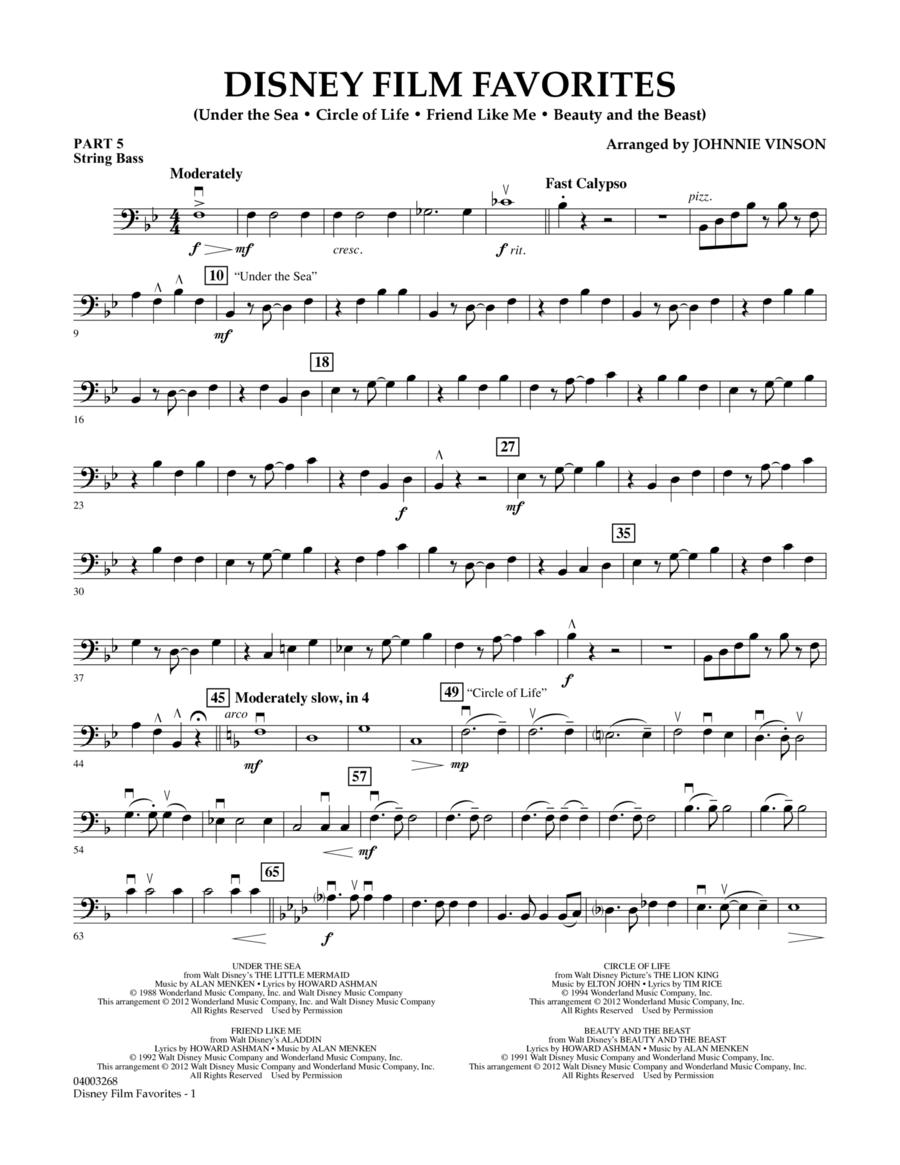 Disney Film Favorites - Pt.5 - String/Electric Bass