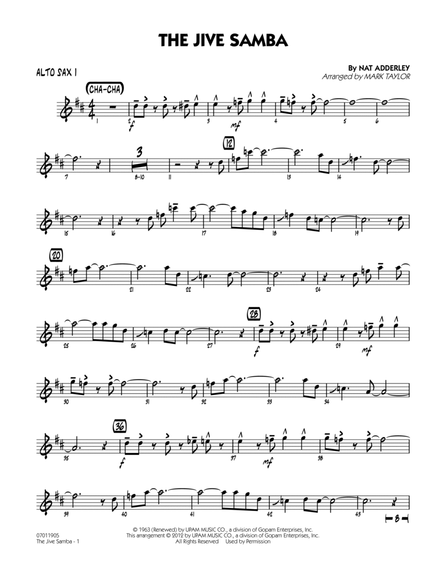 The Jive Samba - Alto Sax 1