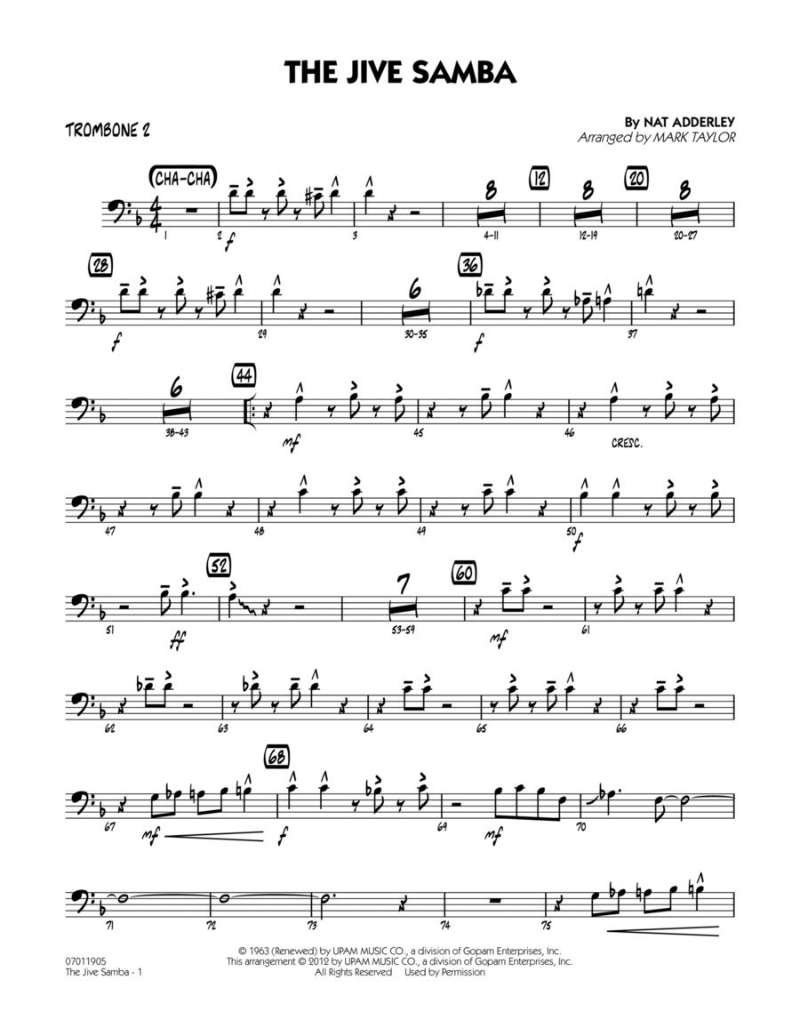 The Jive Samba - Trombone 2