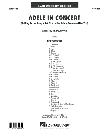 Adele In Concert - Full Score