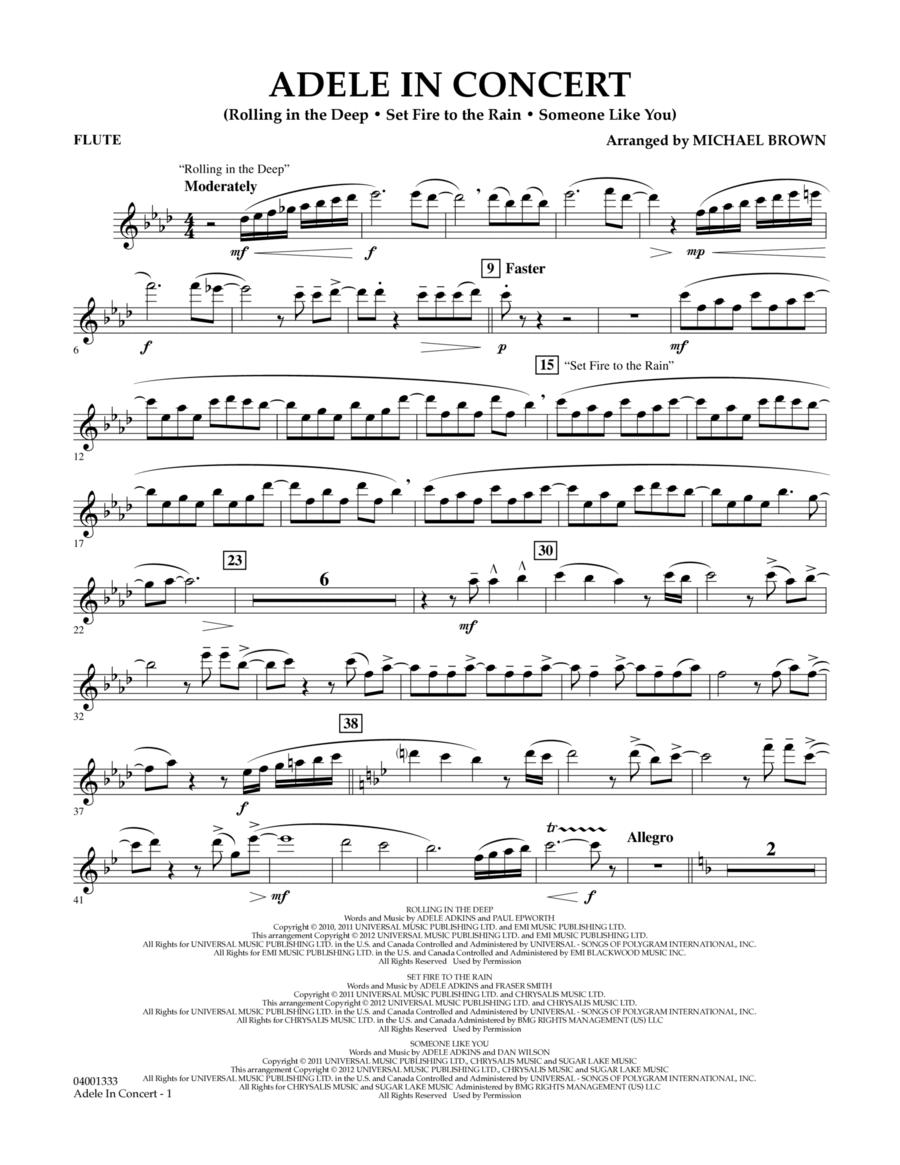Adele In Concert - Flute