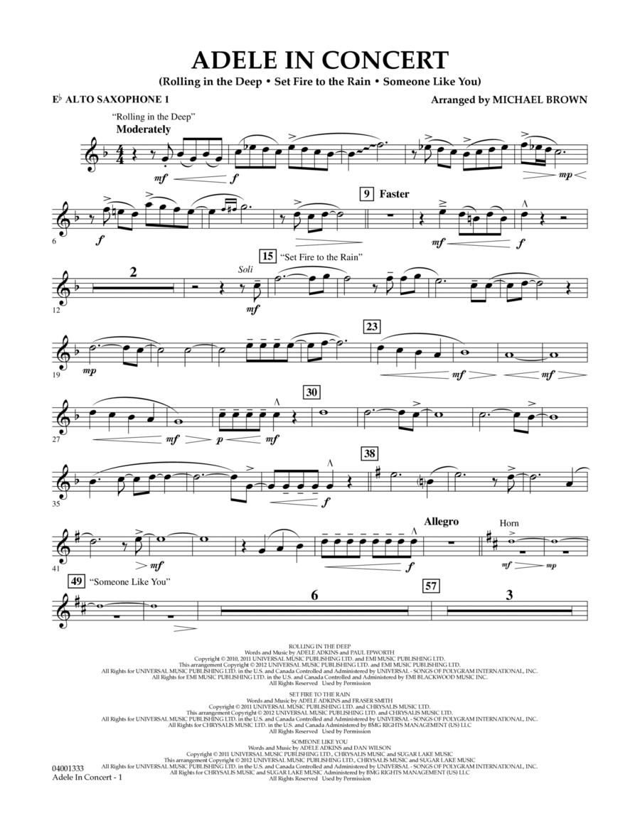Adele In Concert - Eb Alto Saxophone 1