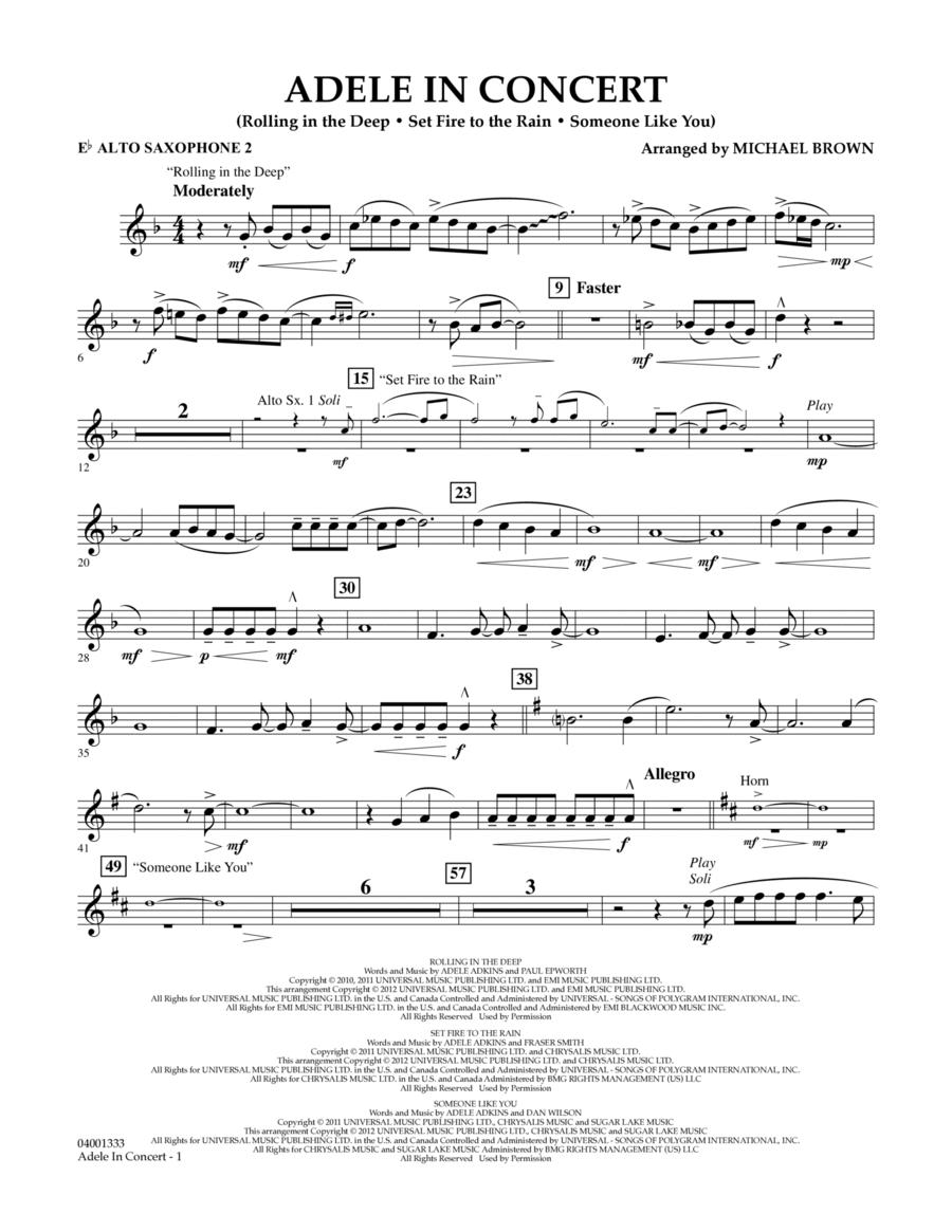 Adele In Concert - Eb Alto Saxophone 2