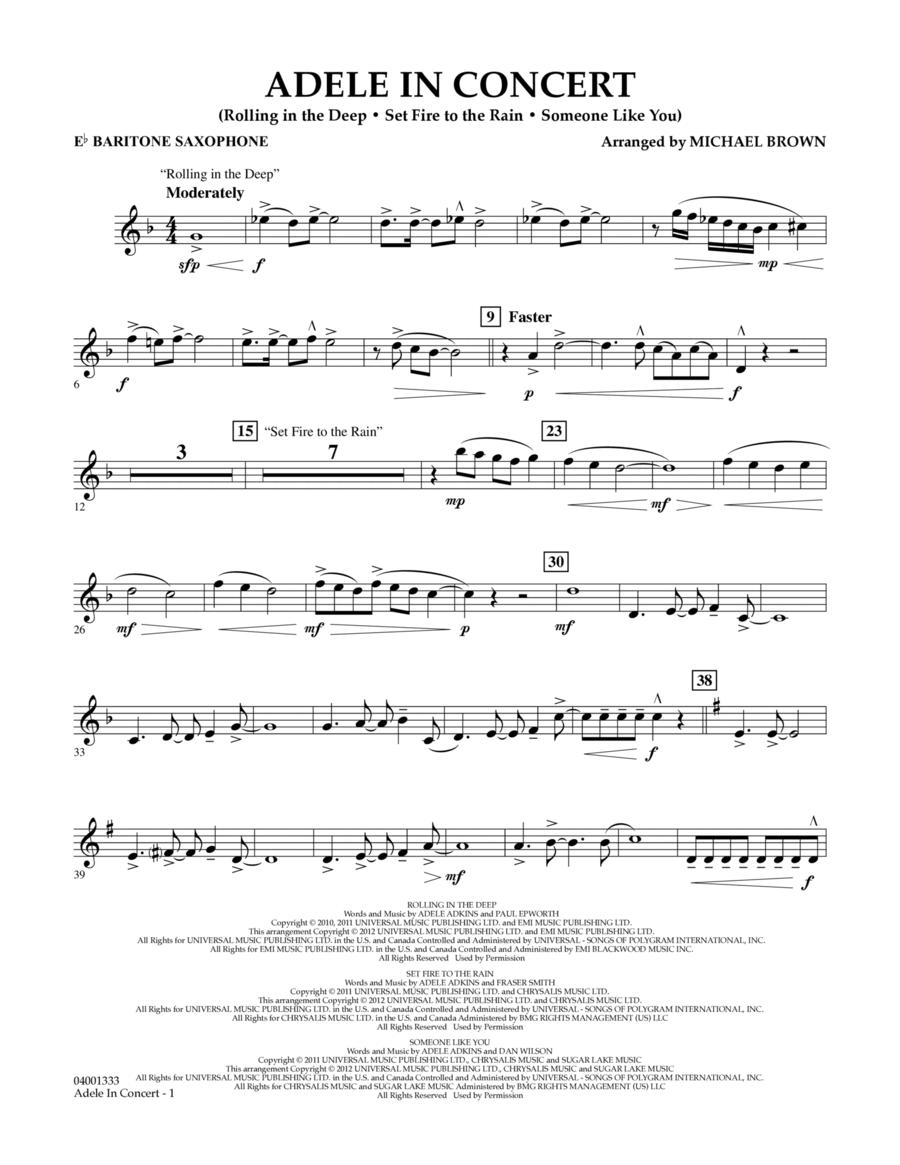 Adele In Concert - Eb Baritone Saxophone