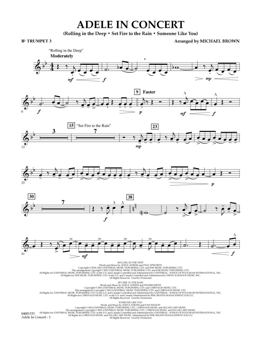 Adele In Concert - Bb Trumpet 3