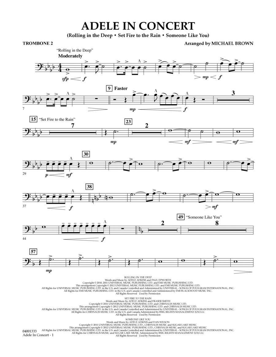 Adele In Concert - Trombone 2