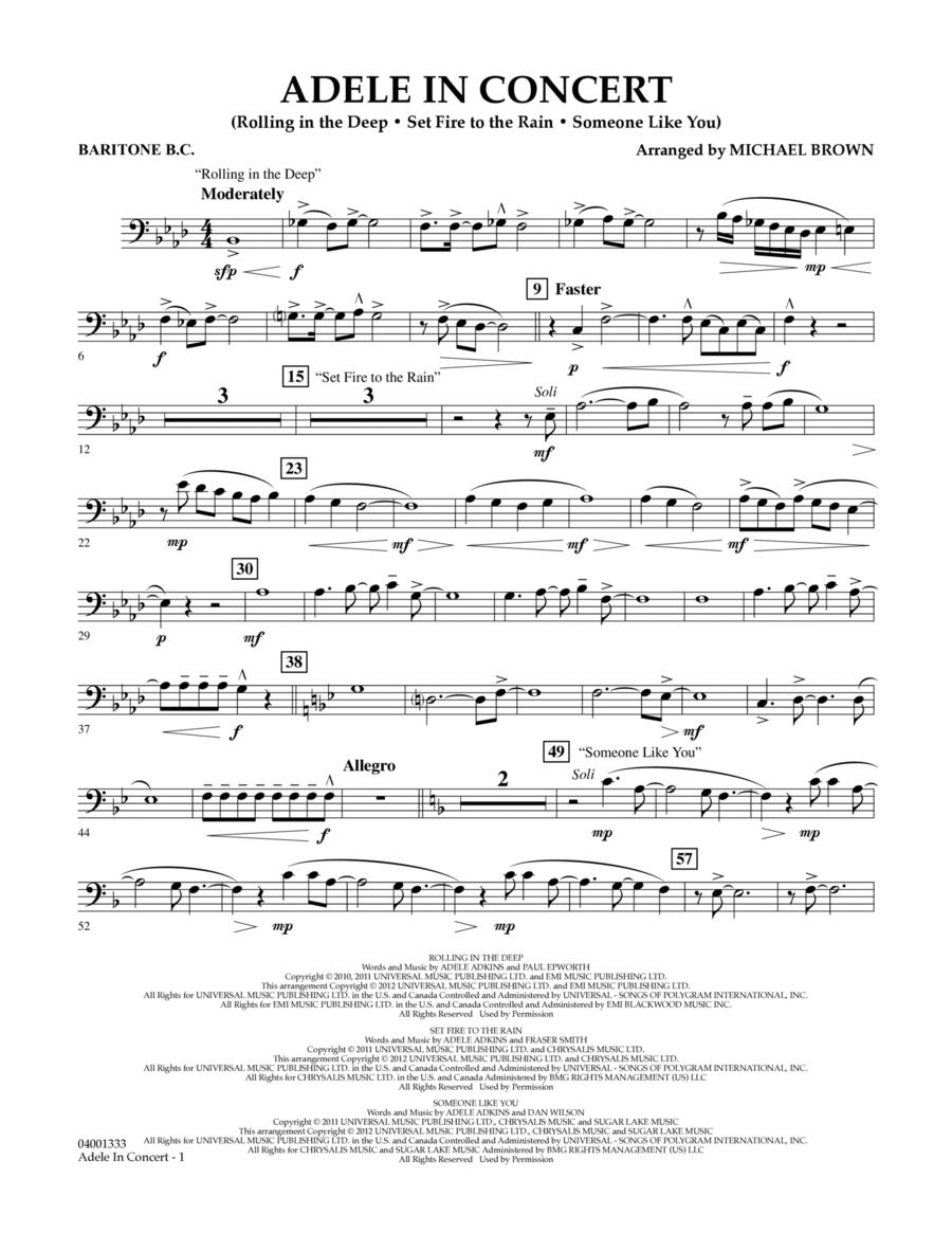 Adele In Concert - Baritone B.C.