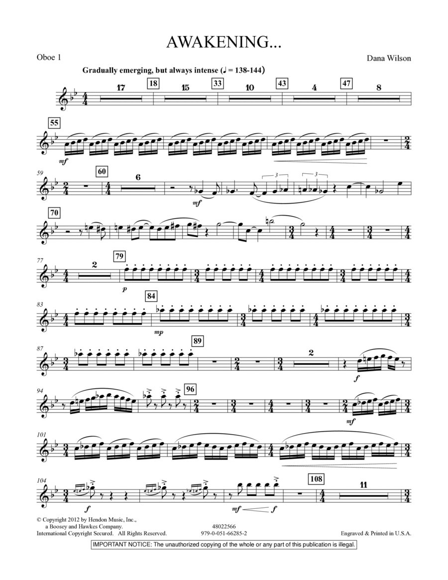 Awakening... - Oboe 1