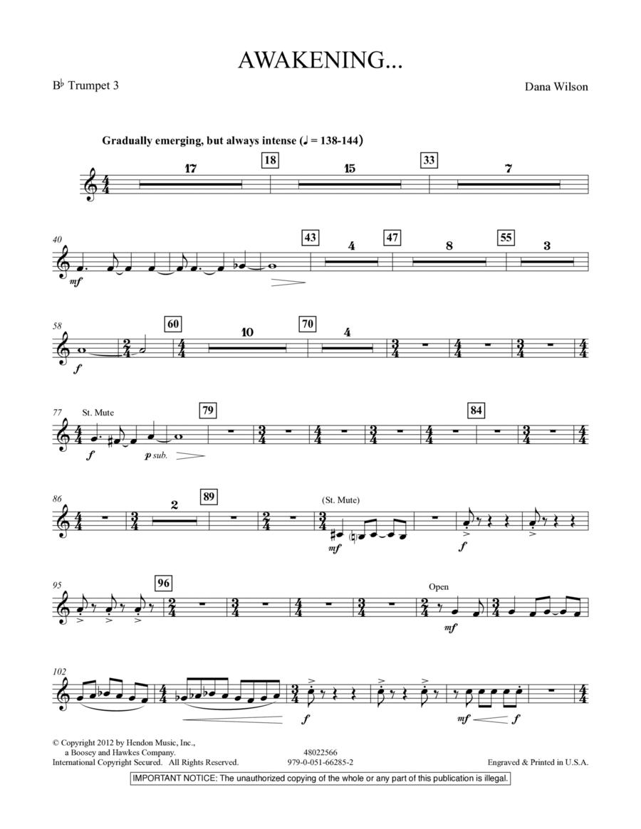 Awakening... - Bb Trumpet 3