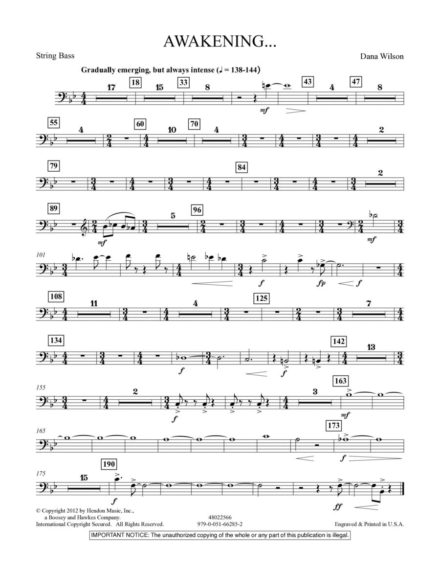 Awakening... - String Bass