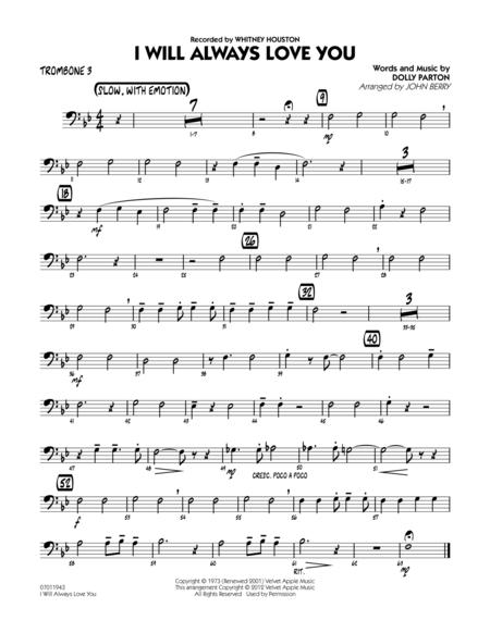I Will Always Love You - Trombone 3