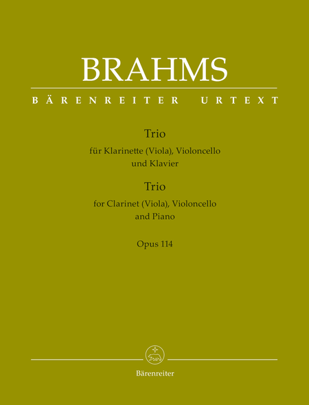 Trio for Clarinet (Viola), Violoncello and Piano, Op. 114