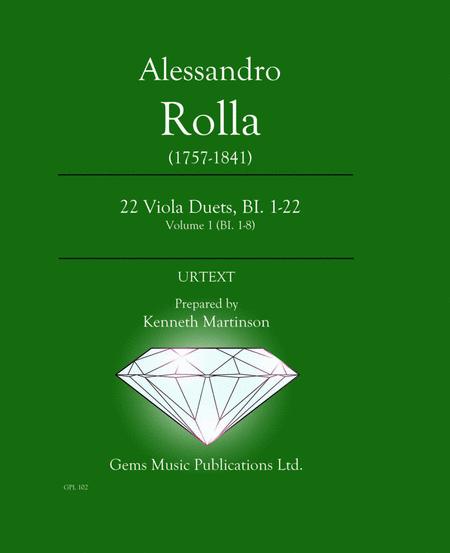 22 Viola Duets, BI. 1-22 Volume 1 (BI. 1-8)