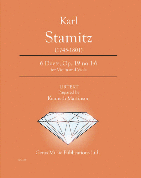 6 Duets, Op. 19 no. 1-6 for Violin and Viola