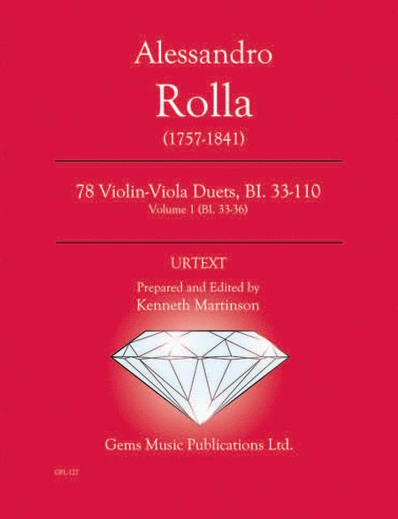 78 Violin-Viola Duets, BI. 33-110 Volume 1 (BI. 33-36)