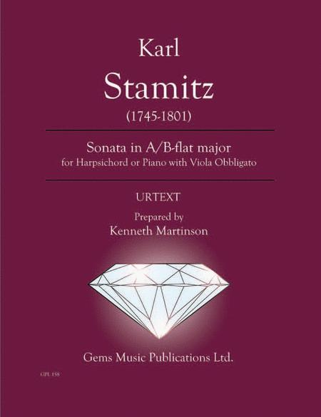 Sonata in A/B-flat major for Harpsichord or Piano with Viola Obbligato