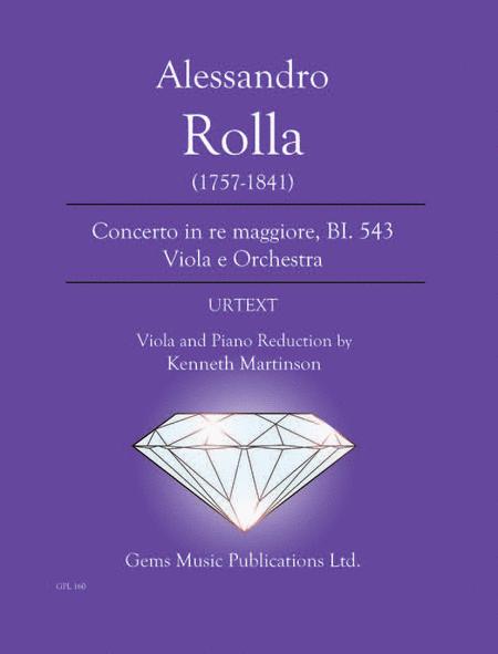 Concerto in re maggiore, BI. 543 Viola e Orchestra