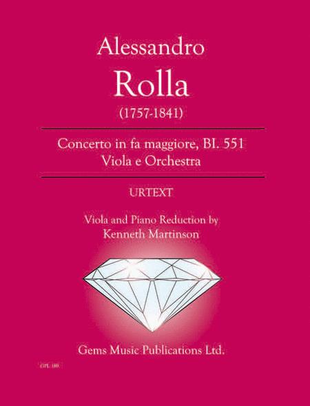 Concerto in fa maggiore, BI. 551 Viola e Orchestra