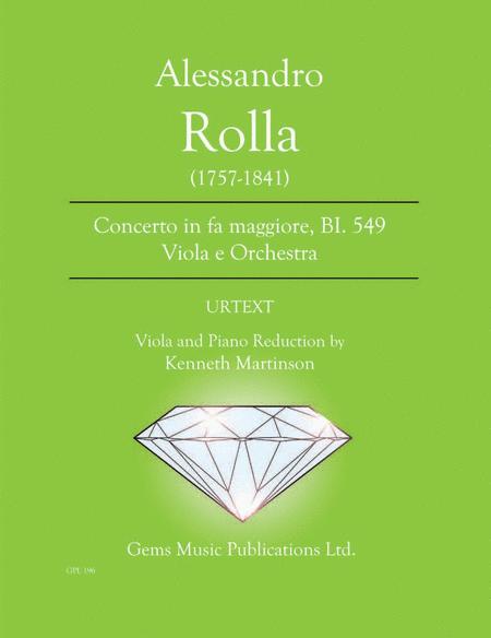 Concerto in fa maggiore, BI. 549 Viola e Orchestra