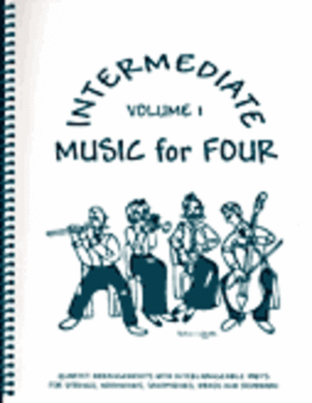 Intermediate Music for Four, Volume 1, Set of 5 Parts for String Quartet plus Piano