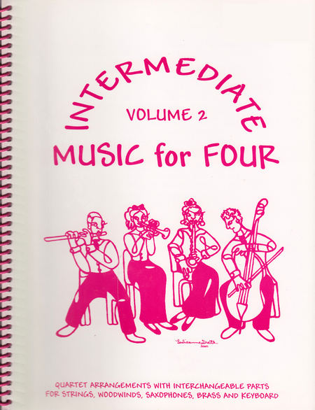 Intermediate Music for Four, Volume 2, Set of Parts for String Quartet
