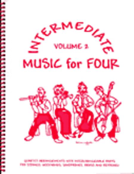 Intermediate Music for Four, Volume 2, Set of 4 Parts for Saxophone Quartet