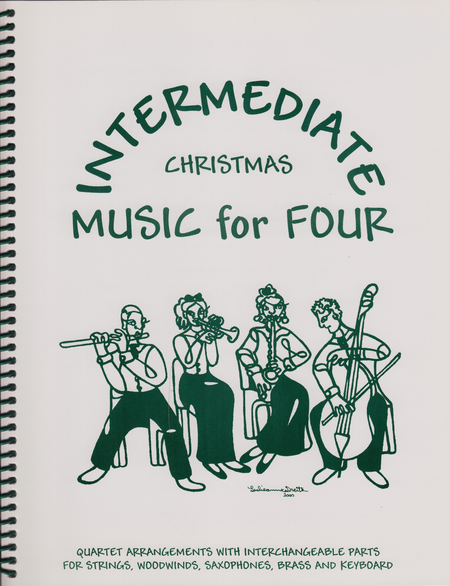Intermediate Music for Four, Christmas, Set of Parts for String Quartet