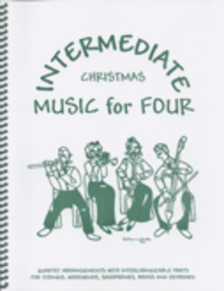 Intermediate Music for Four, Christmas, Set of 5 Parts for String Quartet plus Piano